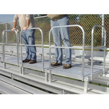 Bleacher podium can hold up to 300 pounds