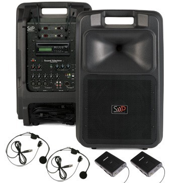 Sound Machine PA/Sound System With 123-Channel Shure Wireless