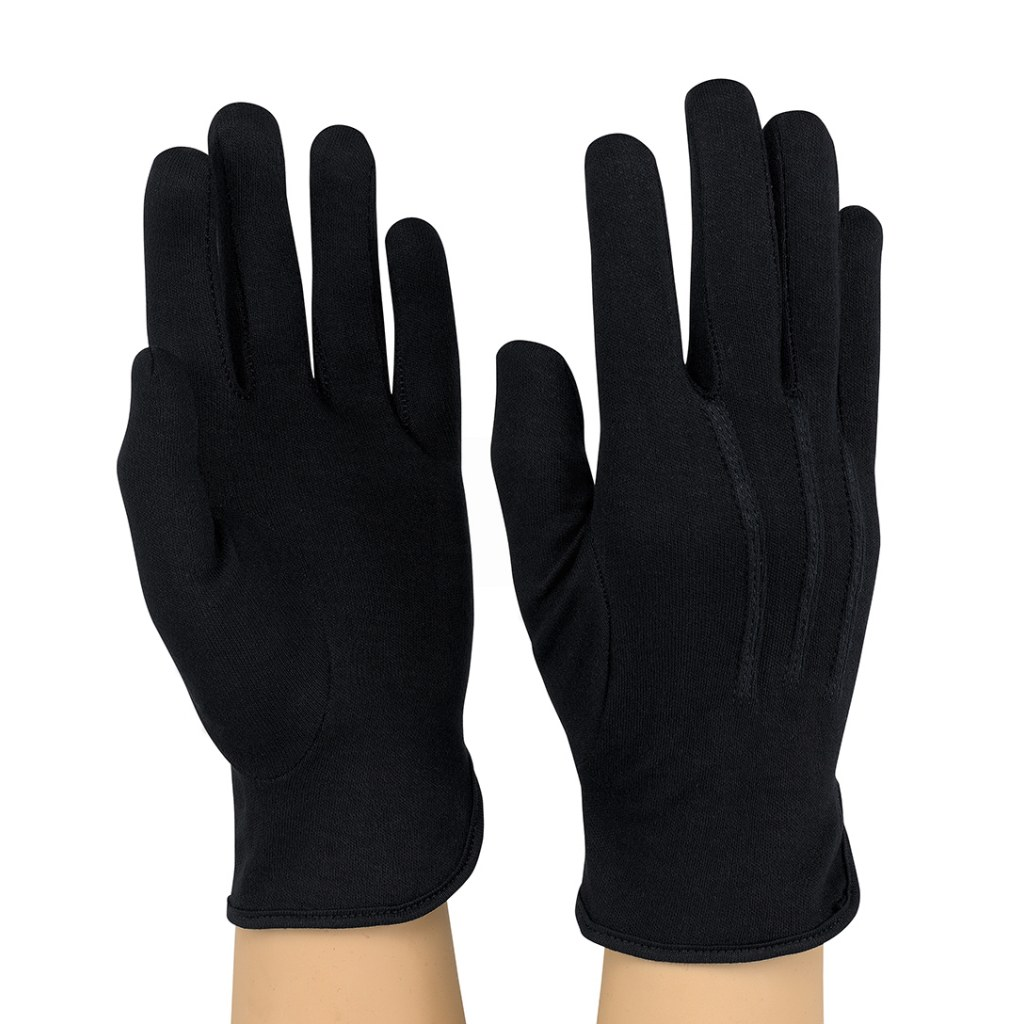 StylePlus Cotton Military Gloves – Black
