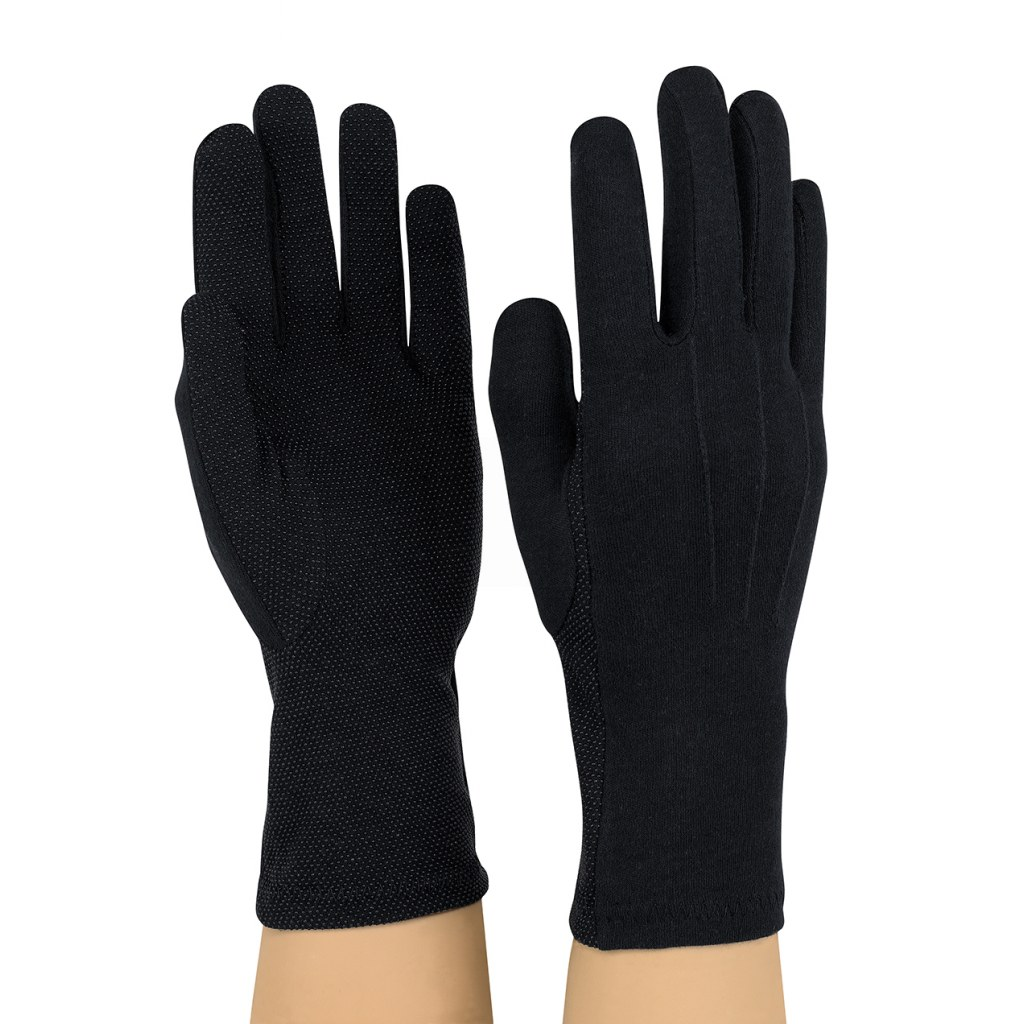 Dozen Dinkles Long Wrist Sure-Grip Gloves – Black #GLP95