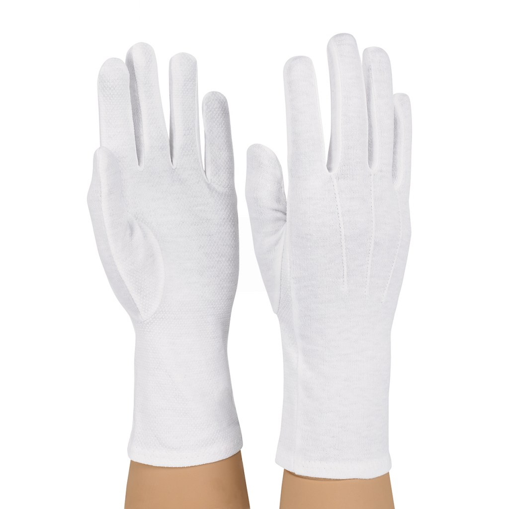 Dozen Dinkles Long Wrist Sure-Grip Gloves – White #GLP25