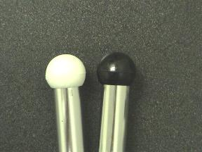 Plastic Poly Ball Tips (pair)
