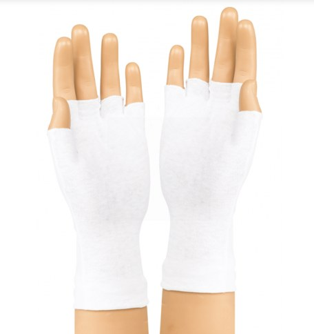 DSI Long Wrist Fingerless Gloves – White – DOZEN