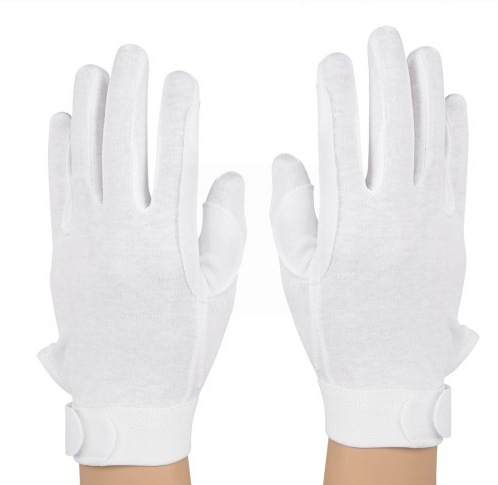 StylePlus Deluxe Cotton Military Gloves – White