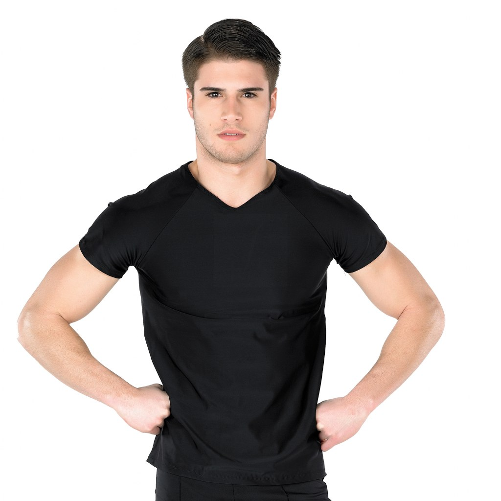 In-Stock V-Neck Male Commander Top