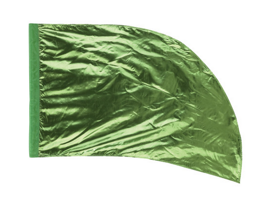 Arced Lava Lamé Flag – Celery – Min Of 6