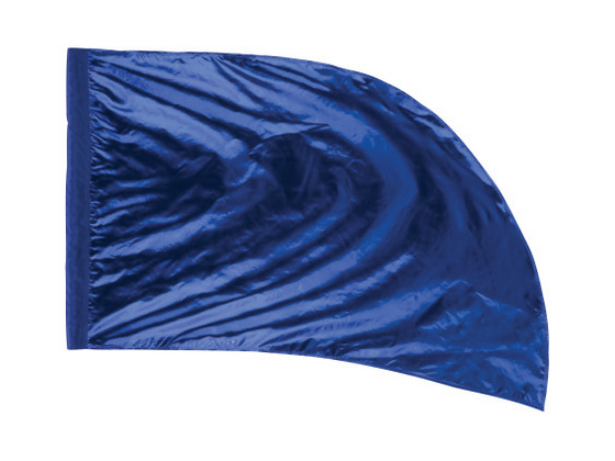 Arced Lava Lamé Flag – Cobalt Blue