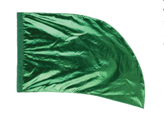Arced Lava Lamé Flag – Emerald