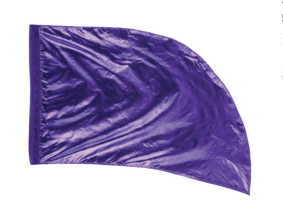 Arced Lava Lamé Flag – Grape – Min Of 6