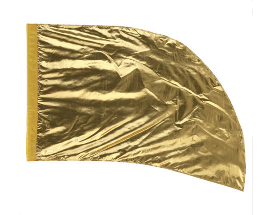 Arced Lava Lamé Flag – Karat Gold