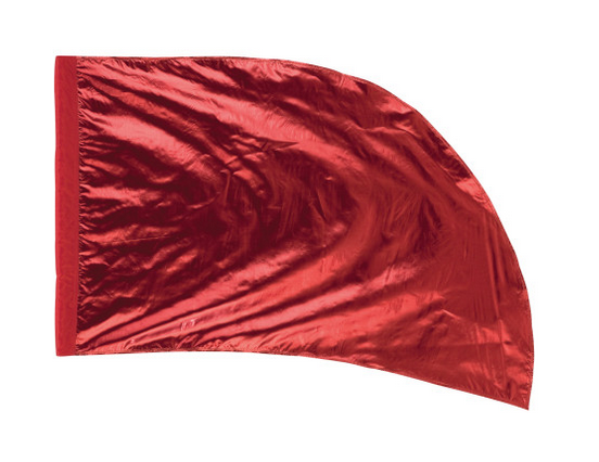Arced Lava Lamé Flag – Red