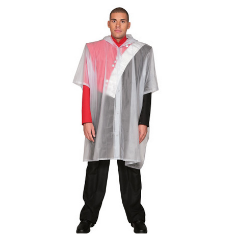 Vinyl poncho with front snap