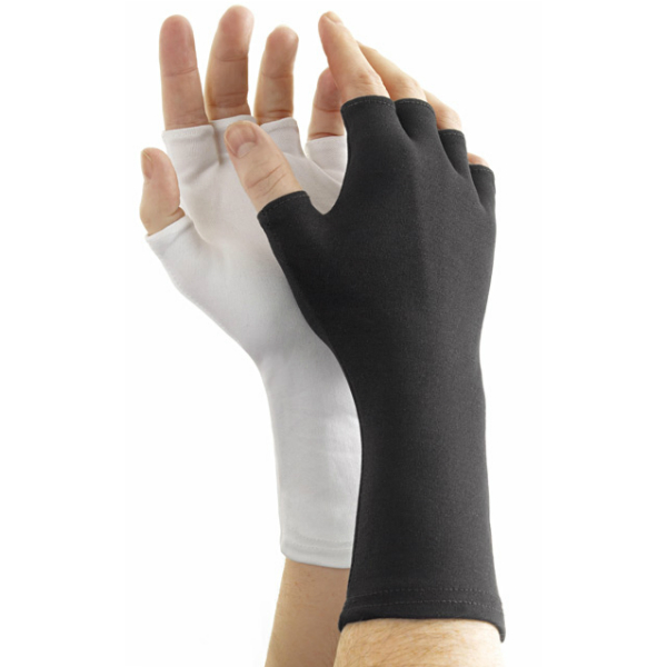 Dozen Dinkles Long Wrist Fingerless Nylon Gloves – White #GLP570