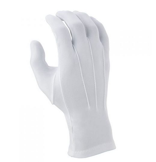 DSI Long Wrist Nylon Gloves – White – One Size – DOZEN